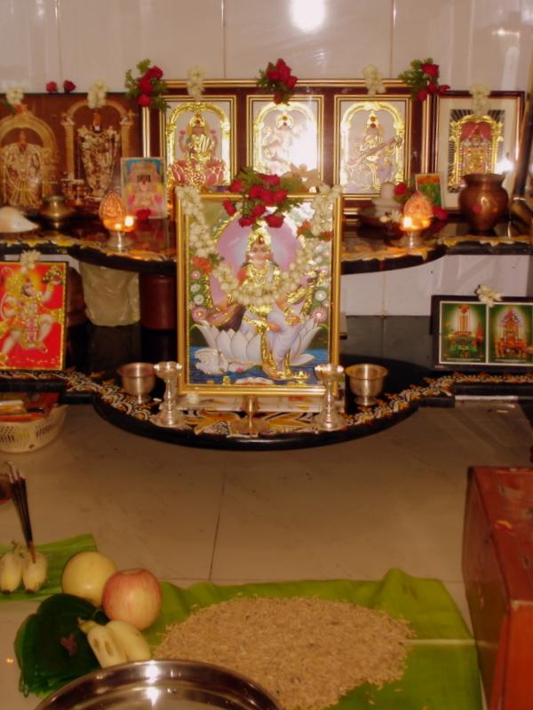 The pooja room