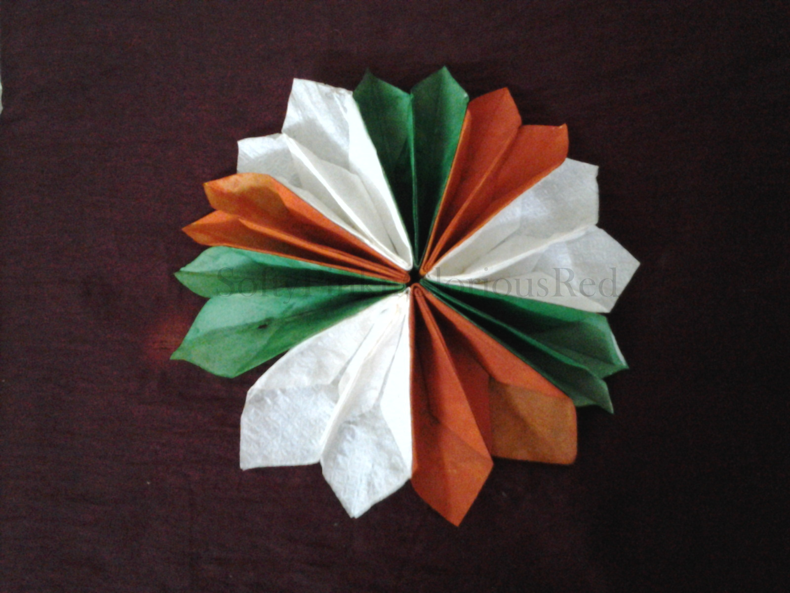 Craft For Flag Of India: SoftyPink N GloriousRed
